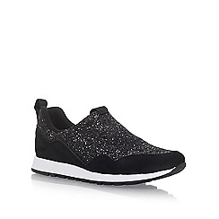 KG Kurt Geiger - Black 'Logical' flat lace up sneakers