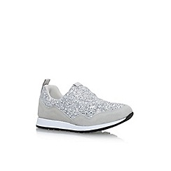 KG Kurt Geiger - Silver 'Logical' flat lace up sneakers