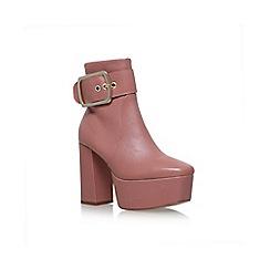 KG Kurt Geiger - Pink spritz high heel ankle boots