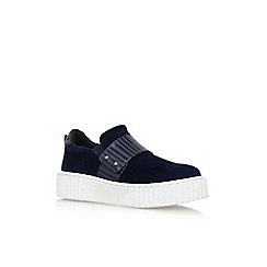 KG Kurt Geiger - Blue 'Lyric' flat slip on sneaker
