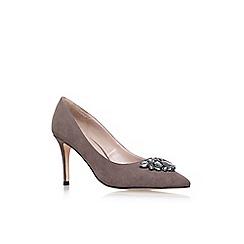 Carvela - Grey 'Kray Jewlled' high heel court shoes