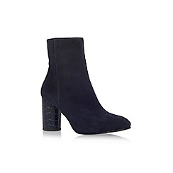 Carvela - Navy 'Smile' mid heel ankle boot