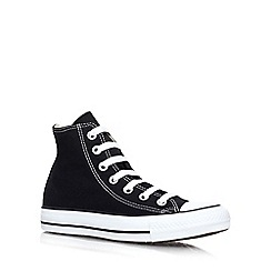 Converse - Black 'Hi Tops' flat lace up sneaker