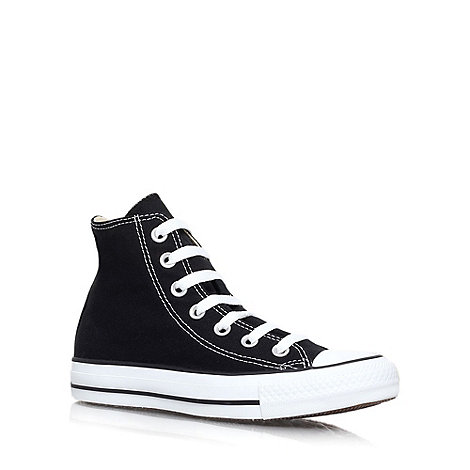 Converse - Black +Hi Tops+ flat lace up sneaker