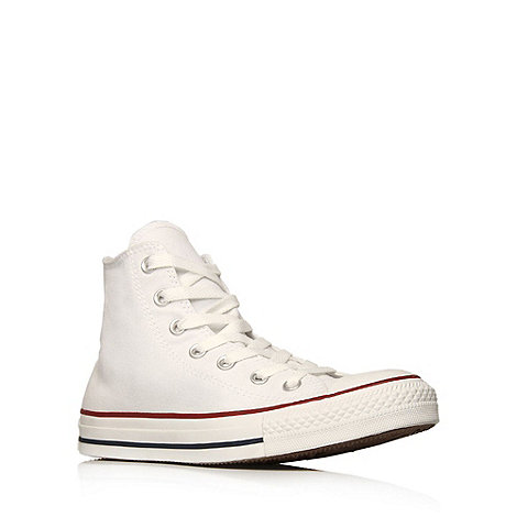 Converse - White +Hi Tops+ Hi top trainers