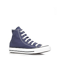 Converse - Blue 'Hi Tops' flat lace up sneaker