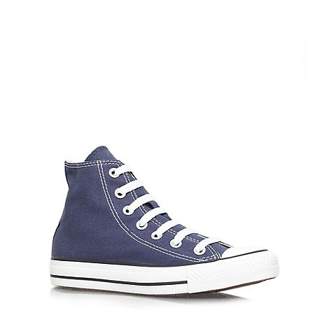 Converse - Blue +Hi Tops+ flat lace up sneaker