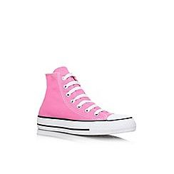 Converse - Converse pink 'hi top' trainers