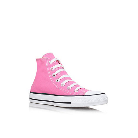 Converse - Pink +Hi Tops+ flat lace up sneaker