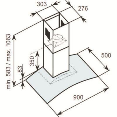 Baumatic Appliances\Cooker Hoods/Chimney Bt9.3Bgl - . -