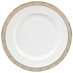 Vera Wang Wedgwood - White 'Gilded Weave' dinner plate