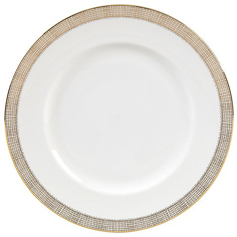 Vera Wang Wedgwood - White +Gilded Weave+ dinner plate