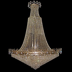 Litecraft - Settate 60 Light Polished Gold Empire Chandelier