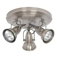 Pewter Nelson 3 Light Spotlight