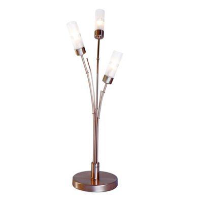 Litecraft Bamboo 3 Light Antique Brass Table Lamp