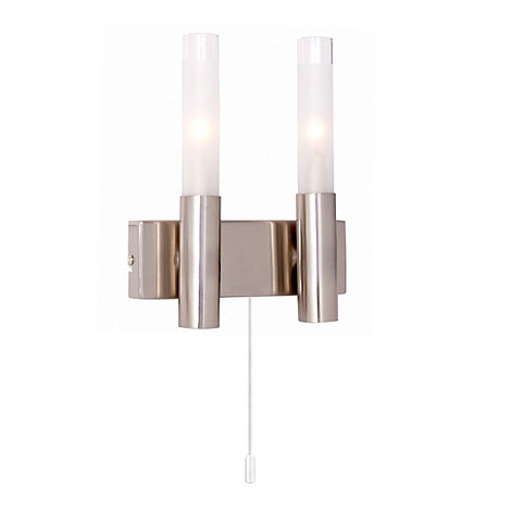 Litecraft - Aluminium Tubular 2 Light Wall Light