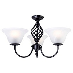 Litecraft - Black Spiral 3 Light Ceiling Light