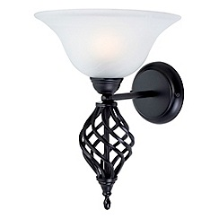Litecraft - Black Spiral Single Wall Light