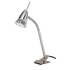 Litecraft - Satin Nickel Gemini Single Halogen Clip on Spotlight