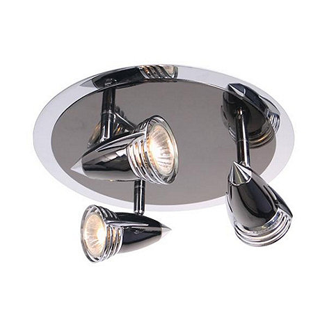 Litecraft - Titanium Gemini 3 Light Halogen Ceiling Spotlight Plate