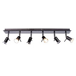 Litecraft - Smoked Mirror 6 Light Halogen Ceiling Light Bar