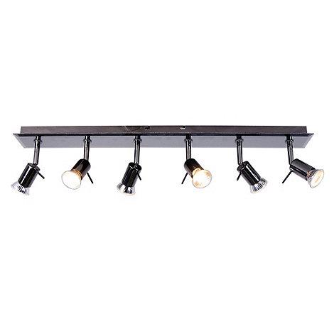 Litecraft - Smoked Mirror 6 Light Halogen Ceiling Light Bar