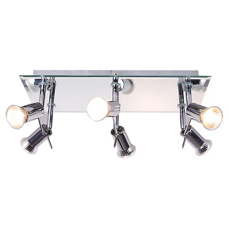 Litecraft - Mirrored 6 Lamp Ceiling Spotlights