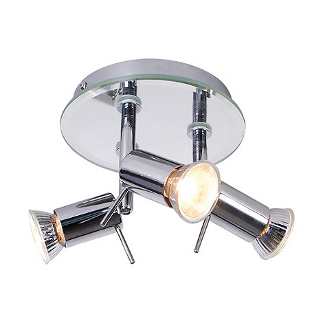 Litecraft - Mirrored 3 Light Ceiling Spotlight Plate