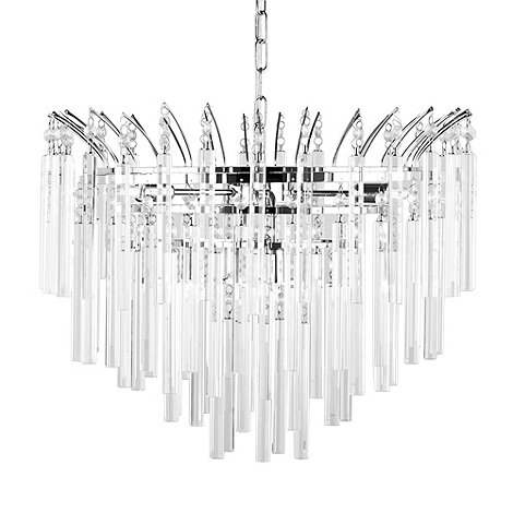 Litecraft - Polished Chrome Emily 6 Light Crystal Prism Chandelier