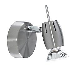 Litecraft - Frank 1 Light Adjustable Wall Spotlight - Satin Nickel