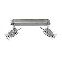 Litecraft - Satin Nickel Frank 2 Light Spotlight Bar