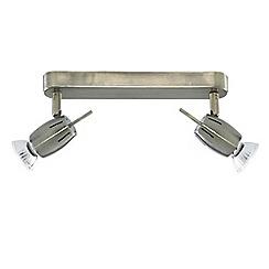 Litecraft - Antique Brass Frank 2 Light Spotlight Bar