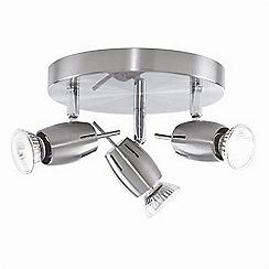 Litecraft - Satin Nickel Frank 3 Light Spotlight