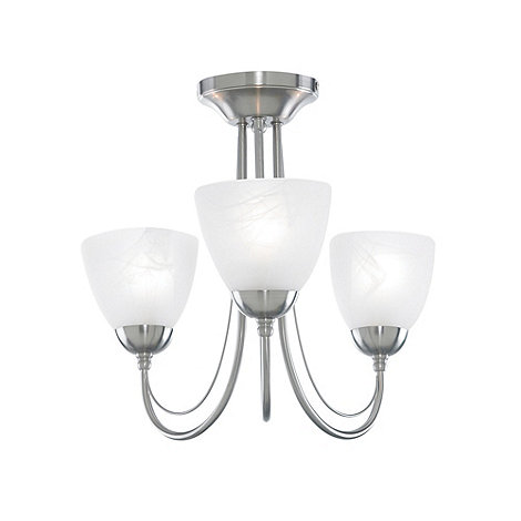Litecraft - Satin Nickel  Barcelona 3 Light Ceiling Light