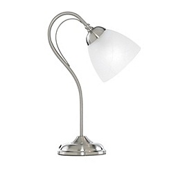 Litecraft - Barcelona Satin Nickel Table Lamp