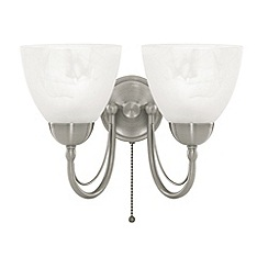 Litecraft - Satin Nickel  Barcelona 2 Light Wall Light