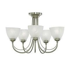 Litecraft - Antique Brass Barcelona 5 Light Ceiling Light
