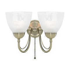 Litecraft - Antique Brass Barcelona 2 Light Wall Light