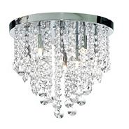 Chrome Montego 9 Light Flush Crystal Ceiling Light