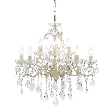 Litecraft - Romeo 9 Light Cream and Gold Chandelier