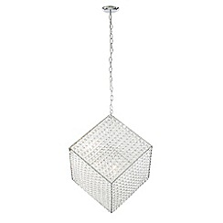Litecraft - Chrome Crystal Cube 6 light Pendant Light