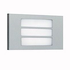 Litecraft - Striped Metallic Grey outdoor brick wall light
