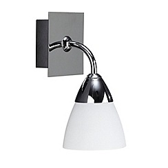 Litecraft - Polished Chrome Aqua Single lamp Bathroom Wall Light