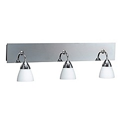Litecraft - Polished Chrome Aqua 3 light bathroom wall light