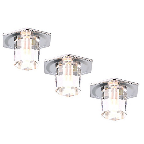 Litecraft - Pack of three octagonal recessed down lights
