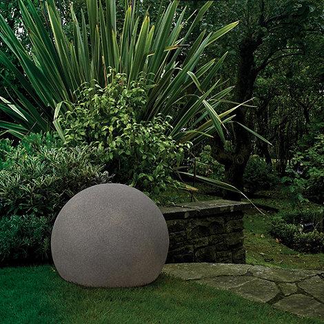 Litecraft - Dark Grey Outdoor Cfl Illuminated Decorative Ball Light