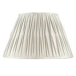 Litecraft - 12 inch Pinch Pleated Cream Lamp Shade