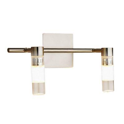 Brushed Chrome Bedroom Wall Lights : Brushed Chrome Belize 2 Light Bathroom Wall Light at Housecharm - Price List