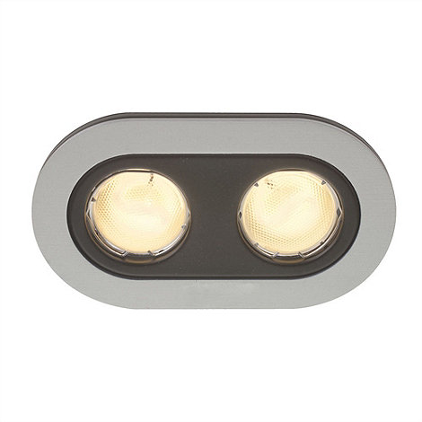 Litecraft - Heka twin rounded Aluminium recessed downlights