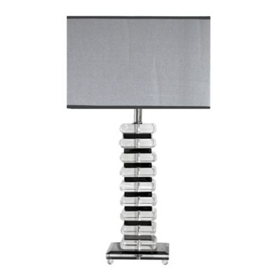 K9 Crystal Stacked Oval Block Table Lamp with